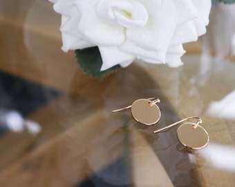 Blank Circle Drop Earrings
