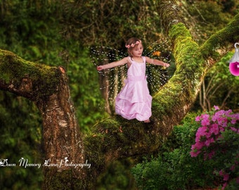 Digital Background, Children Digital Background, Spring Backdrop, Fairy Background
