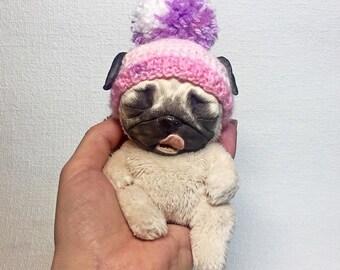 Pug Handmade Dog Puppy Pet Doll Toy Animal