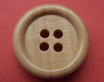 10 wood buttons buttons light brown 15 mm (2534)