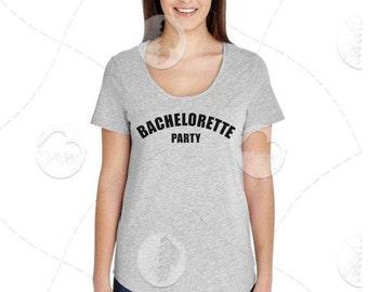 "Womens - Girls - Premium Retail Fit ""Bachelorette Party"" Fashion Tee"