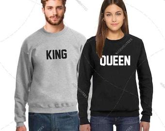 "Unisex - Premium Retail Fit ""King or Queen"" 2017 Crewneck, Sweater, Jumper, Fleece (S,M, L, XL+) Fashion - Oversized? Order big!"