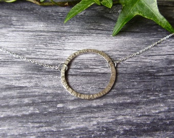 Hammered Karma Necklace Silver