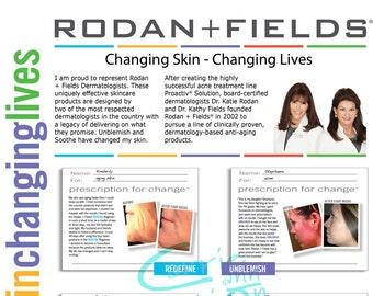 Rodan and Fields Product Brochure, printable, download, regimens, lash boost