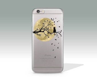 iPhone 7 Case Cat Clear iPhone 7 Plus Case Moon iPhone 7 Case Clear iPhone 6 Case iPhone 6s Case Silicone iPhone Case Christmas Gift //188