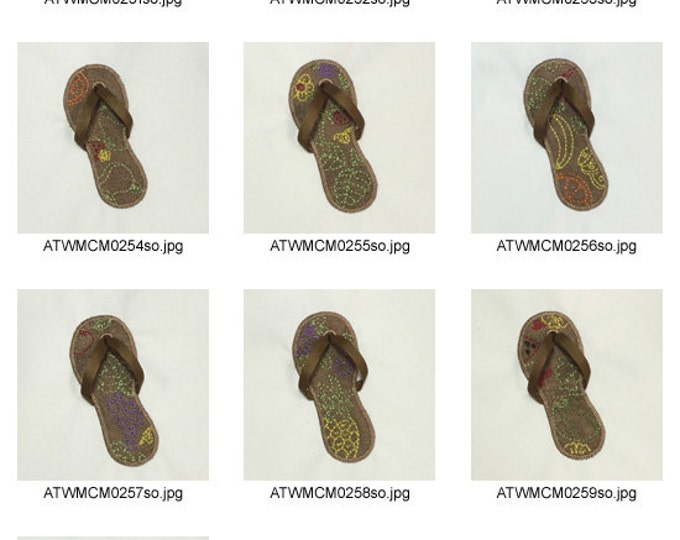 Fruit-Sandals-Applique ( 10 Machine Embroidery Designs from ATW ).ev13