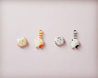 Cat earrings, Cat stud earrings, Cat jewellery, Animal earrings, Earrings, Cat lovers, Crazy cat lady