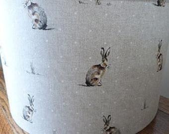 Lampshade - Hare / Rabbit fabric Lamp Shade rabbits