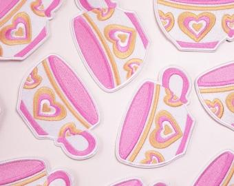 Pink Teacup Patch // Disneyland // Mad Tea Party