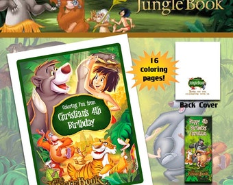 The Jungle Book Coloring Book with Crayons