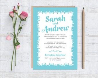 Printable (DIY) BERRY SPRAY- White Panel - Wedding Invitation Set A6