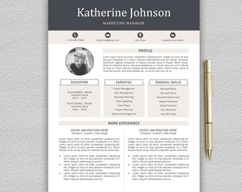 resume template professional resume template cv template for word one and two page