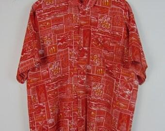 Vintage Red Pattern Shirt