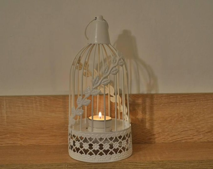10%OFF White bird cage wedding lantern / wedding lanterns