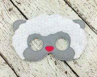 Sheep Mask - Farm Animal Mask - Felt Mask - Farm Party - Party Favor - Sheep Costume