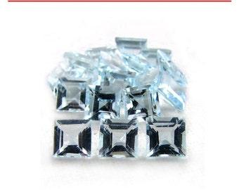 0.05-0.07 Cts of 2 mm A Square Aquamarine ( 1 pc ) Loose Gemstone-391429