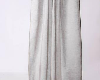 Sheer Linen Curtain, Grey Curtain Panel, Custom Lenght, Sheer Curtain, Linen Curtain, Handmade, Linen Window Panels