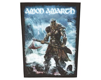 Amon Amarth 'Jomsviking' sew on backpatch,  officially licensed