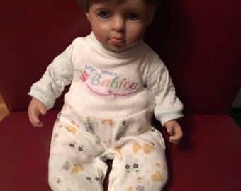 """Geppeddo My Way Babies Baby Boy 15"""" Cloth Vinyl Doll"""