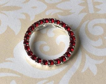 Genuine Ruby and Sterling Pendant