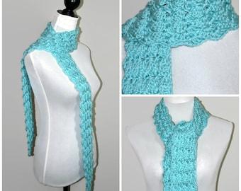 Oversized crochet scarf, snood, chunky scarf, long scarf, 1930s style, winter snood, crochet scarf, vintage style, skinny scarf, women scarf