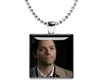 Castiel Supernatural Necklace Pendant Misha Collins Fandom Jewelry Cosplay Fangirl Fanboy