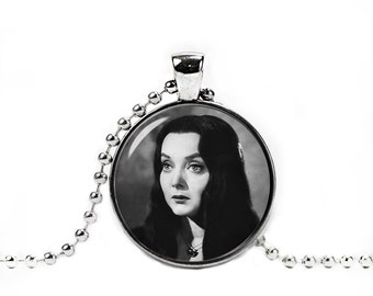 Morticia Necklace Morticia Addams Pendant Addams Family Jewelry Gothic Jewelry Fangirl Fanboy