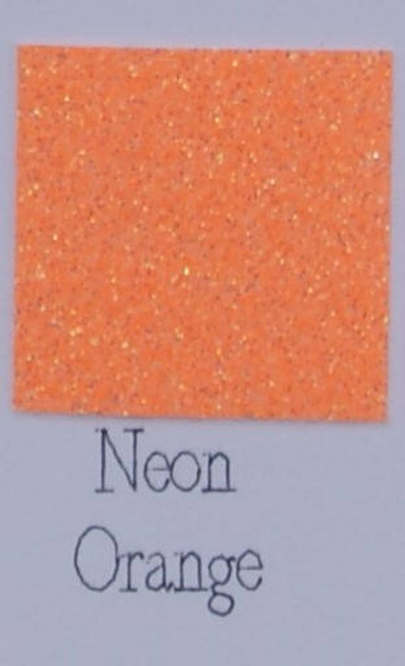 Sale Neon Orange Siser Glitter Htv Heat Transfer Vinyl