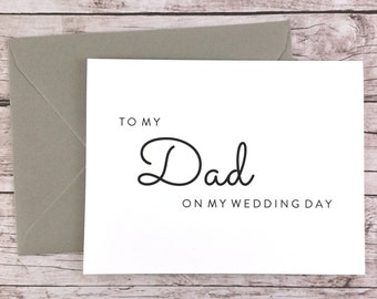 To My Dad On My Wedding Day Card, Dad Card, Wedding Day Card, Father of the Bride, Father of the Bride Gift  - (FPS0016)