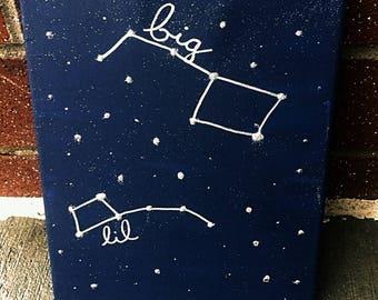 """Big Dipper Little Dipper Big Little Canvas 8x10"""""""