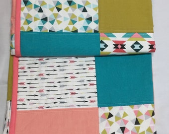 Baby Quilt, Organic cotton quilt, baby bedding, baby gift
