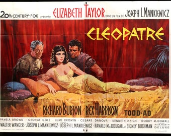 "Cleopatra (1963) Original French Two Panel Poster - 63"" x 92"""