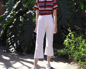 Red White & Blue Mod Striped Top