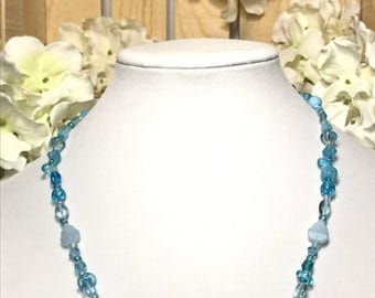 Necklace, Baby Blue