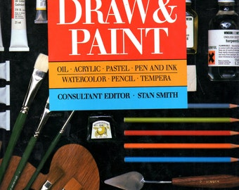 How to Draw and Paint in Oil Acyic Pencil Tempra Pastel Pen & Ink by Stan Smith  Color photo Illustrated Large Book  HC DJ