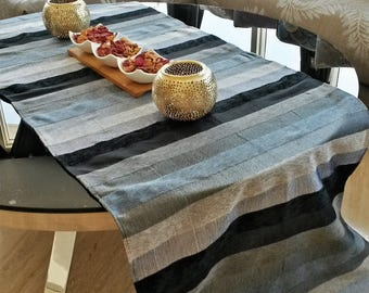 Sabra and velvet table runner - handmade