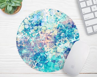 Marble Mousepad, Mouse Mat, Desk Accessories, Mermaid Mousepad, Modern Mouse Pad, Personalized Mouse Pad Round Mousepad, Cubicle Decor