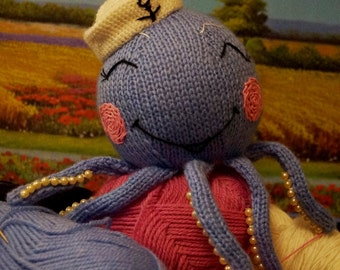Toy Octopus Stuffed toy Octopus Octopus-Sailorman Knitted toy Octopus