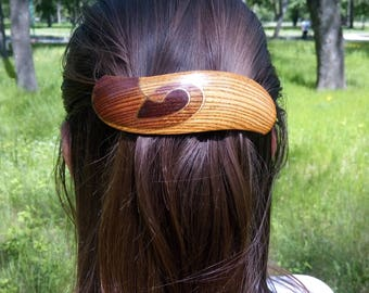 Wooden barrette Womens gift Christmas gift Gift for her Wife gift Gift for girlfriend Gifts for mom Gift for Grandma  Coworker gift