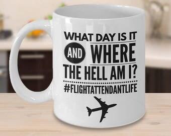 Flight Attendant Gifts - Flight Attendant Life Mug - Funny Flight Attendant Gifts - Flight Crew Gift - Cabin Crew Gift - Stewardess Gifts