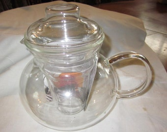 Primul glass teapot - with diffuser and lid