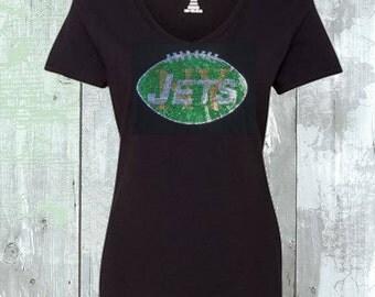 Sequins NY Jets Football Shirt