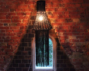 Quirky Lamp - Black Statement Light - 'Pansy' by The Knotted Touch