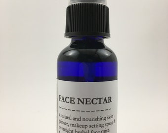 Face Nectar - All Natural Makeup Primer, Makeup Setting Spray and Nourishing Overnight Herbal Face Mist Herbal Tonic Spray 1-oz.