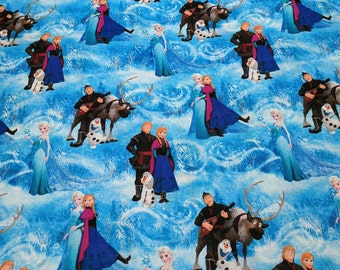 Frozen-Characters Cotton Fabric