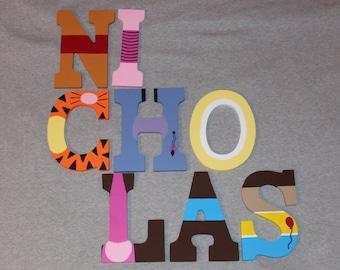 Winnie the Pooh Letters - Handpainted Custom Made - Nursery Decor