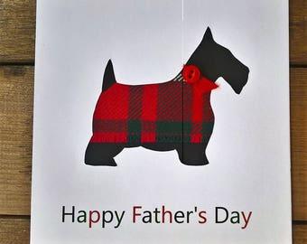 Scottish Terrier Tartan Father's Day Card