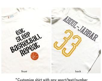 Eat,Sleep, Soccer, Basketball, Baseball, football, tennis, golf, Repeat, Sports, T-shirt, athlete, gift