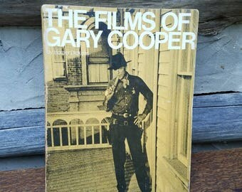 The Films of Gary Cooper- Vintage Book c. 1970's - Old Movie, Westerns, Film, American Culture 1920s, 1930s, 1940s, 1950s- Father's Day Gift