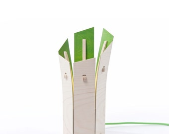 Colourful 'Leek' Table Lamp (green)
